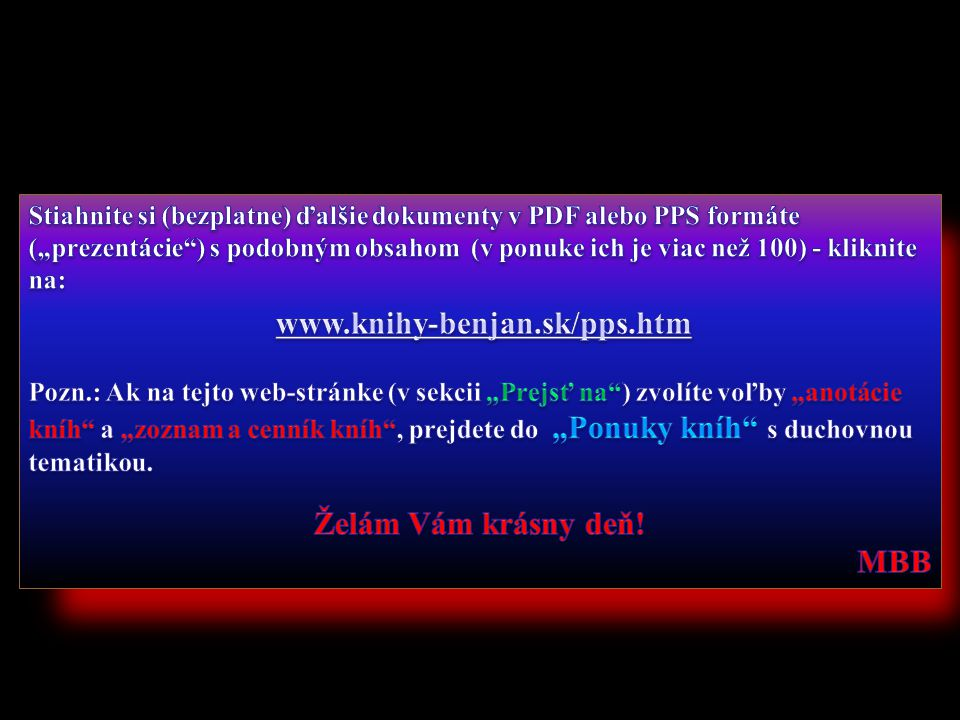 www.knihy-benjan.sk/pps.htm Želám Vám krásny deň!