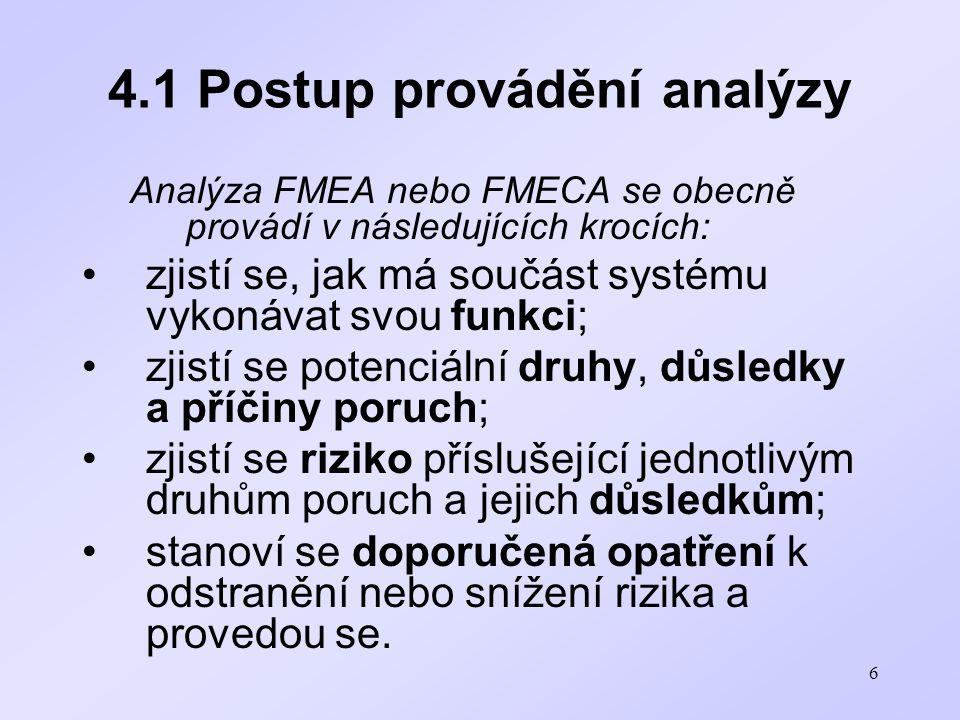 4.1 Postup provádění analýzy