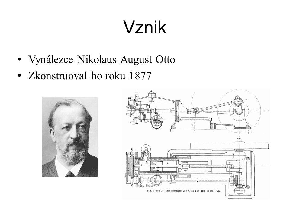 Vznik Vynálezce Nikolaus August Otto Zkonstruoval ho roku 1877