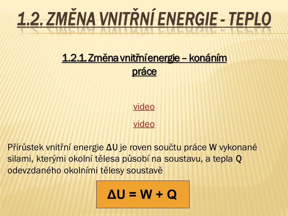 1.2.1. Změna vnitřní energie – konáním práce