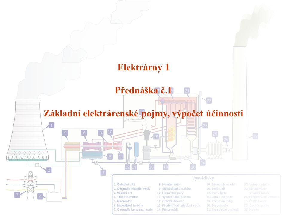 Elektrárny 1 Přednáška č