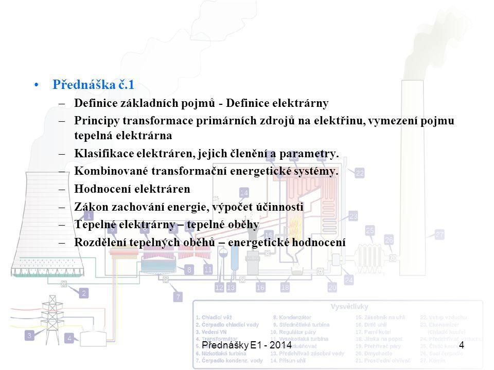 Přednáška č.1 Definice základních pojmů - Definice elektrárny