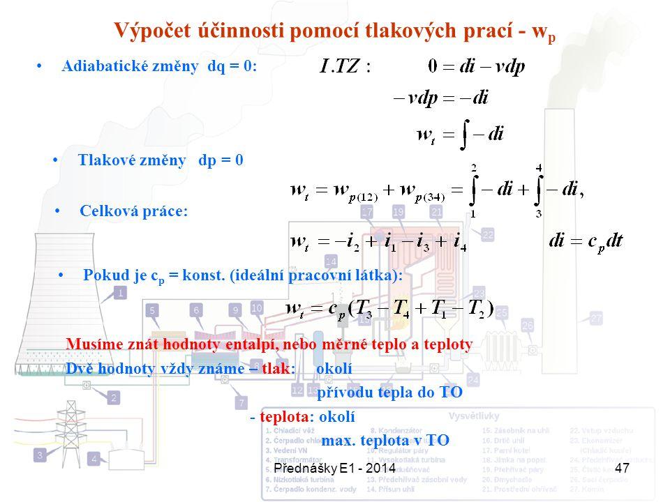 Výpočet účinnosti pomocí tlakových prací - wp