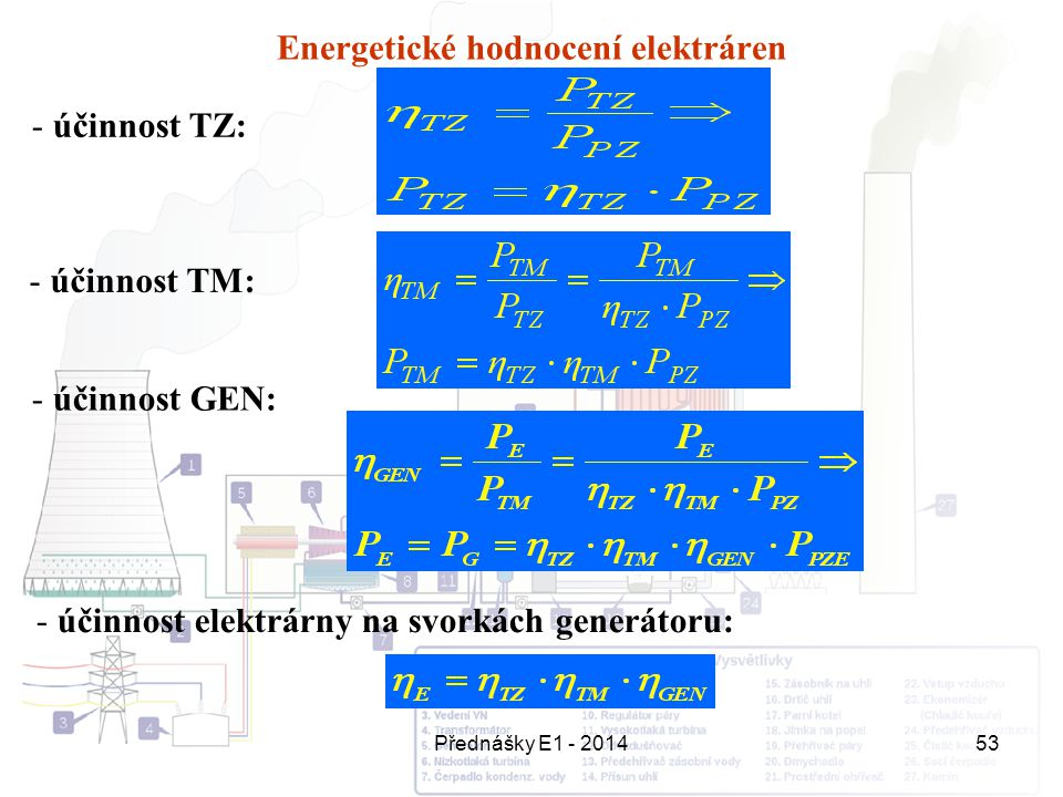 Energetické hodnocení elektráren