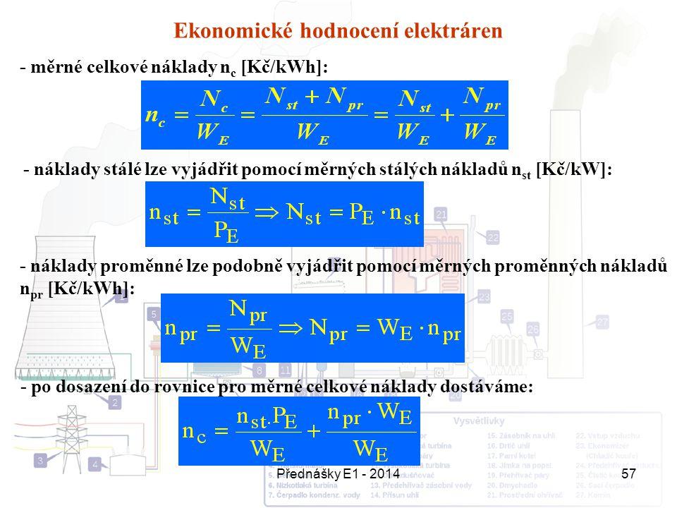 Ekonomické hodnocení elektráren