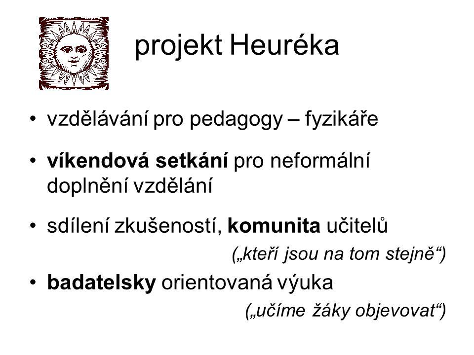 projekt Heuréka vzdělávání pro pedagogy – fyzikáře