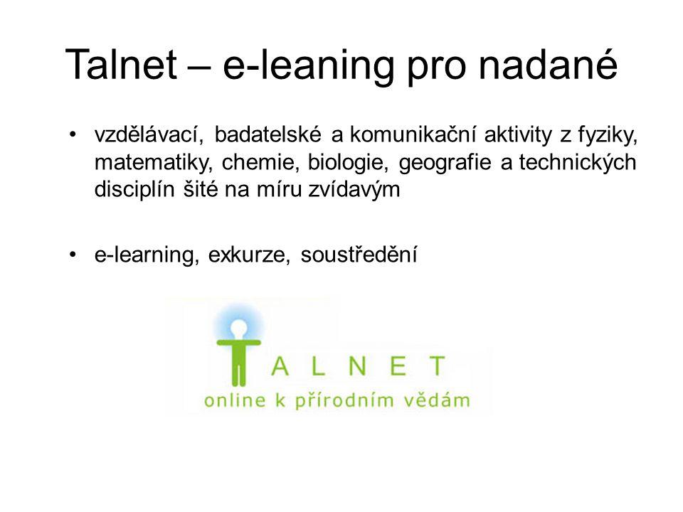 Talnet – e-leaning pro nadané