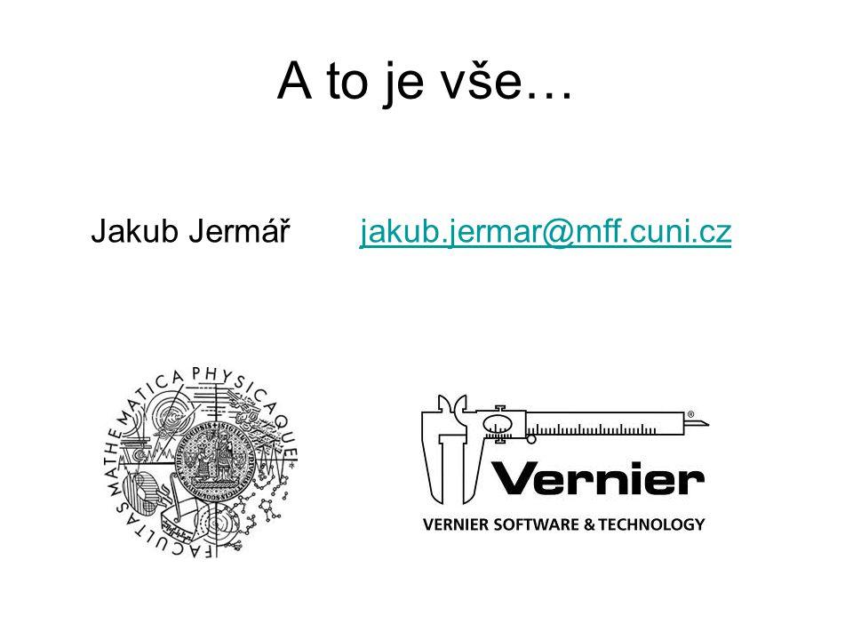 A to je vše… Jakub Jermář jakub.jermar@mff.cuni.cz