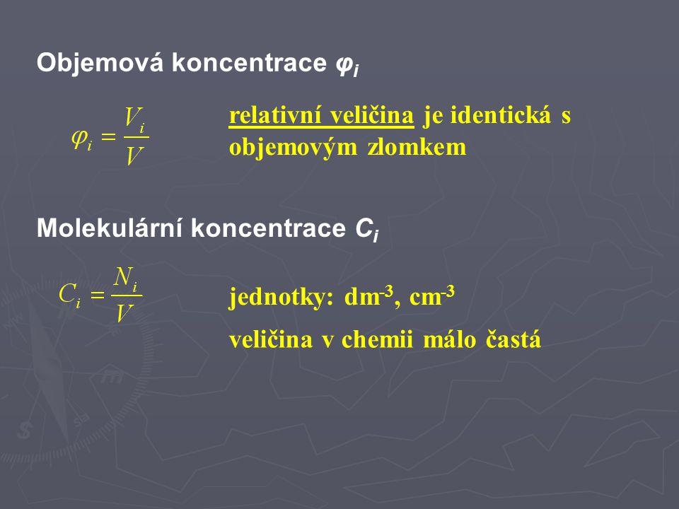 Objemová koncentrace φi
