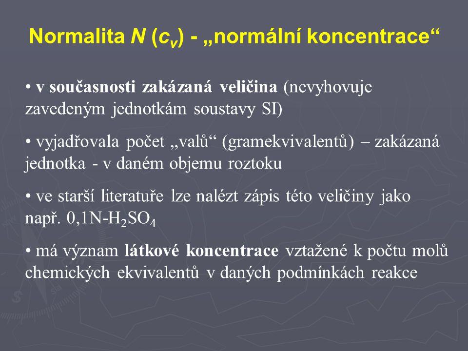 """Normalita N (cv) - """"normální koncentrace"""