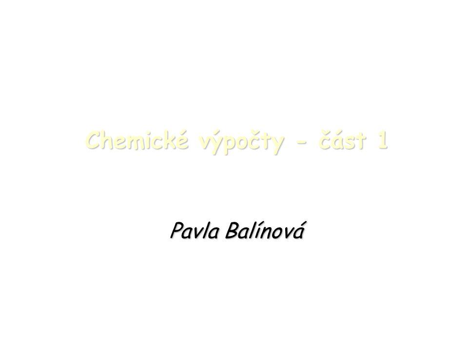 Chemické výpočty - část 1