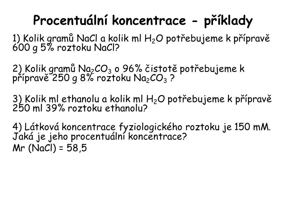 Procentuální koncentrace - příklady
