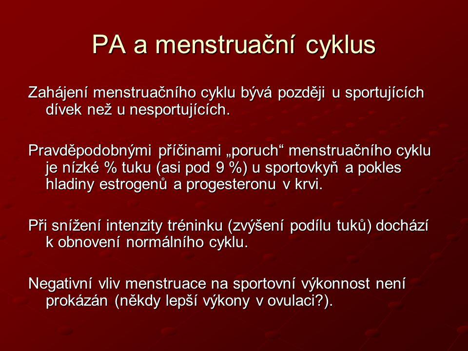 PA a menstruační cyklus