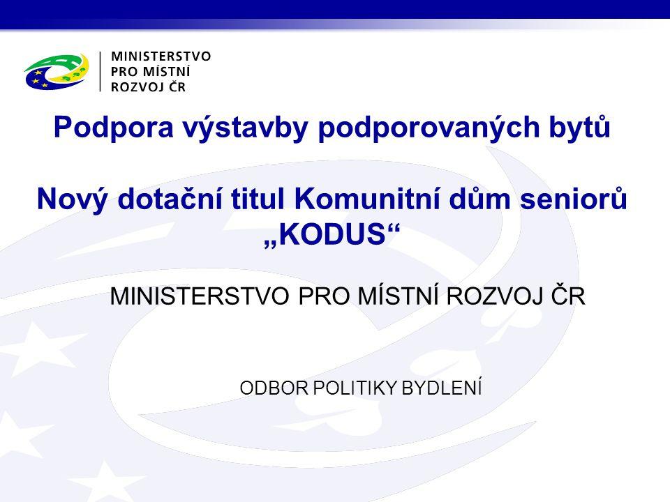 ODBOR POLITIKY BYDLENÍ