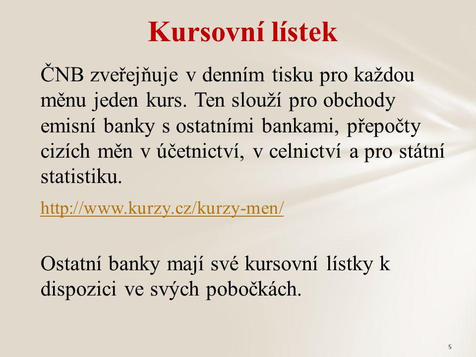 Kursovní lístek