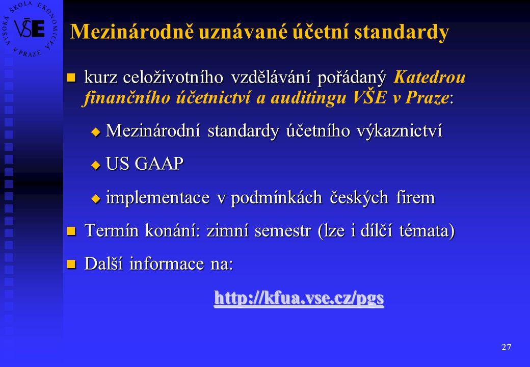 Mezinárodně uznávané účetní standardy