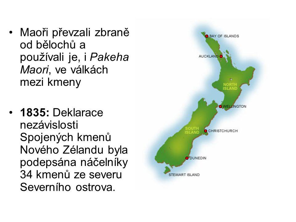 Maoři převzali zbraně od bělochů a používali je, i Pakeha Maori, ve válkách mezi kmeny