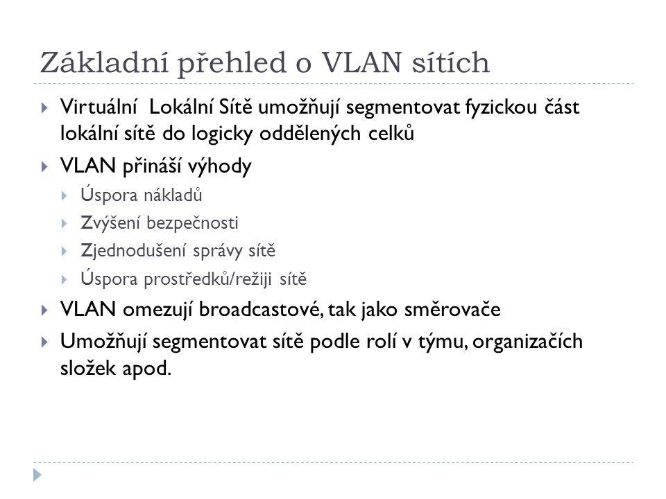 Základní přehled o VLAN sítích