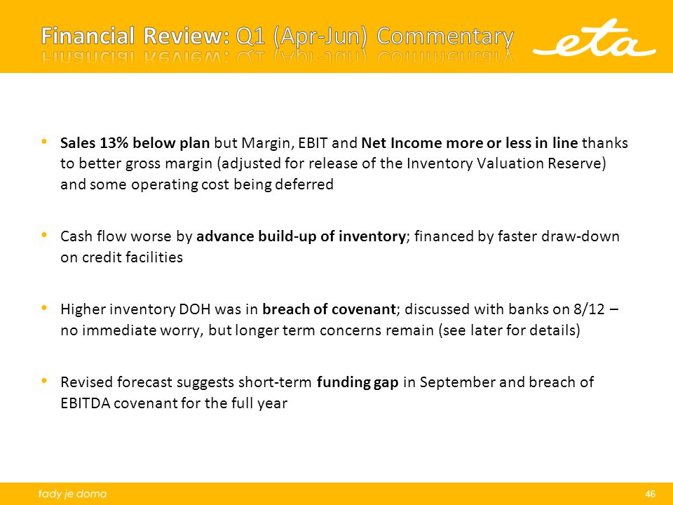 Financial Review: Q1 (Apr-Jun) Commentary