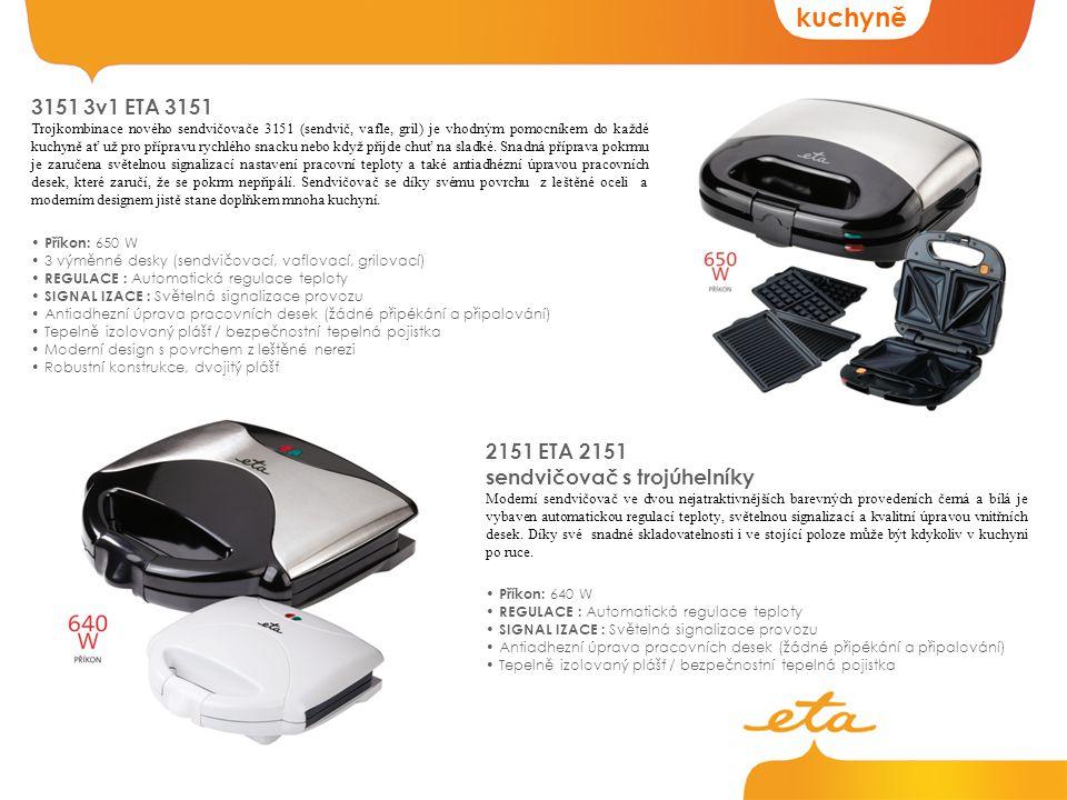 kuchyně 3151 3v1 ETA 3151 2151 ETA 2151 sendvičovač s trojúhelníky