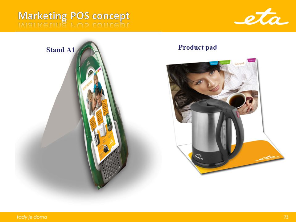 Marketing POS concept Product pad Stand A1