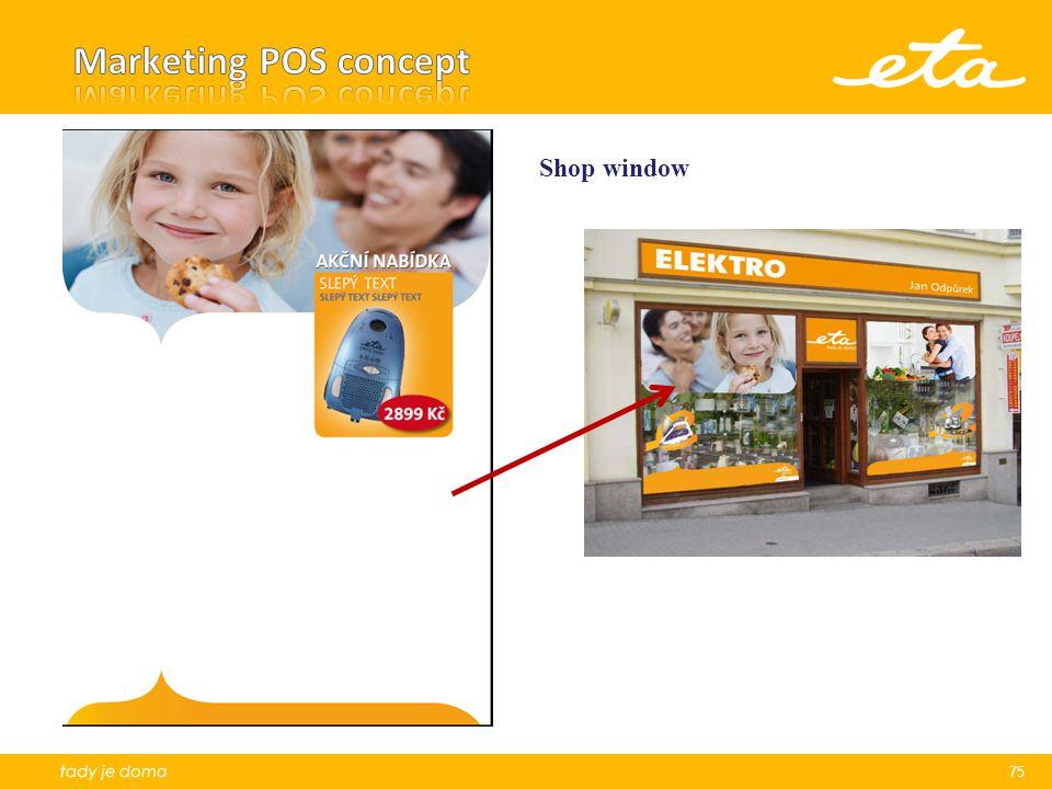 Marketing POS concept Shop window