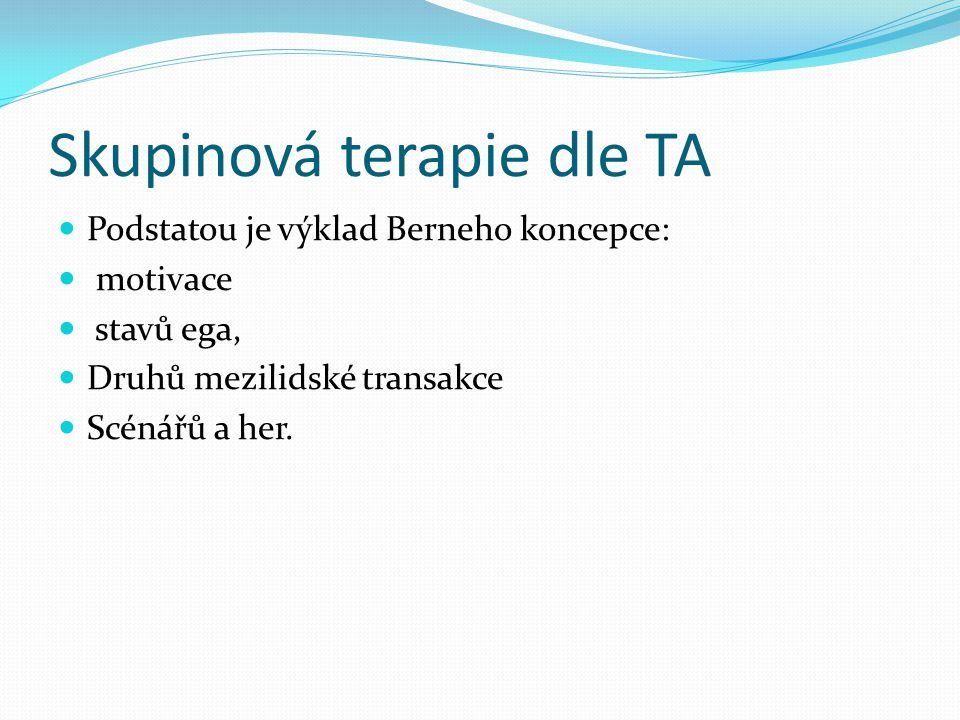 Skupinová terapie dle TA