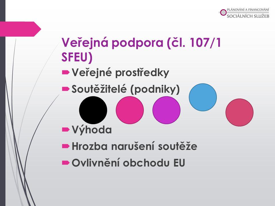 Veřejná podpora (čl. 107/1 SFEU)