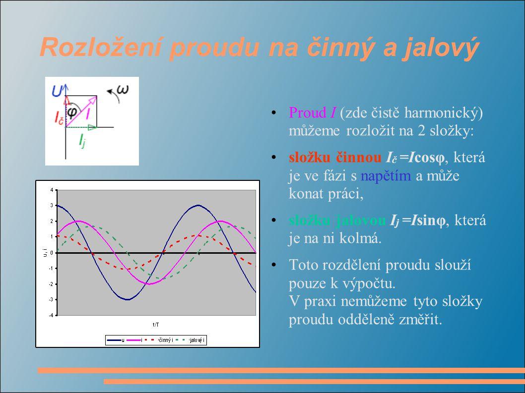 Rozložení proudu na činný a jalový
