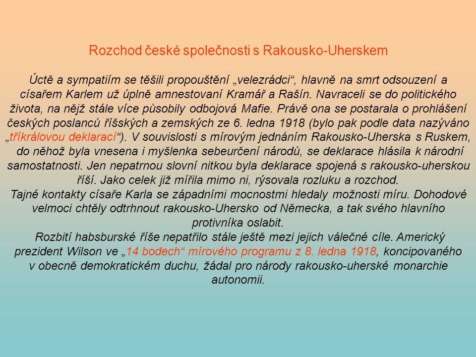Rozchod české společnosti s Rakousko-Uherskem