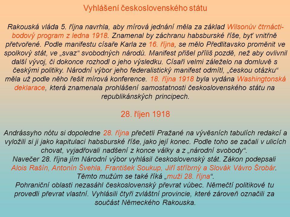 Vyhlášení československého státu