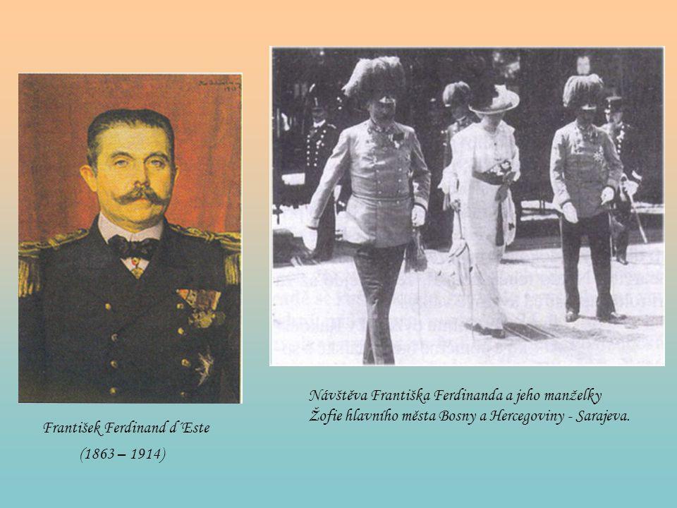 Návštěva Františka Ferdinanda a jeho manželky