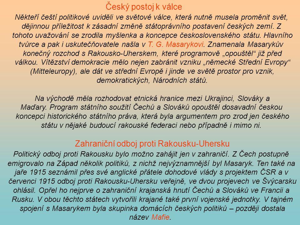 Zahraniční odboj proti Rakousku-Uhersku
