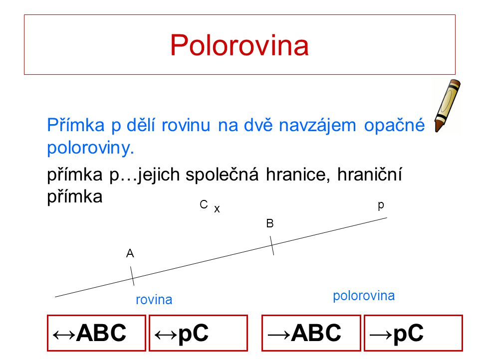 Polorovina ↔ABC ↔pC →ABC →pC