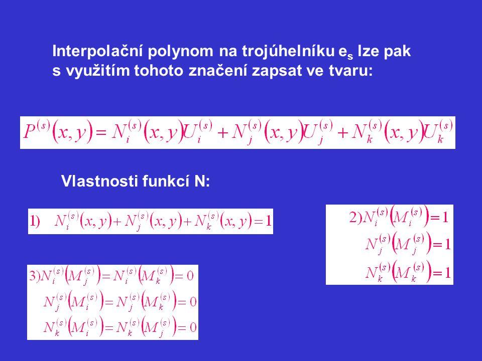 Interpolační polynom na trojúhelníku es lze pak