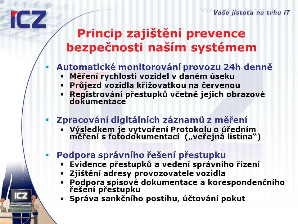 Princip zajištění prevence bezpečnosti naším systémem