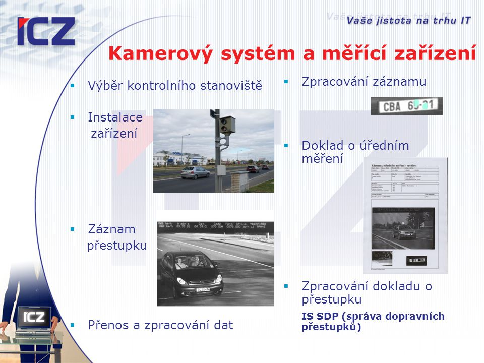 Kamerový systém a měřící zařízení