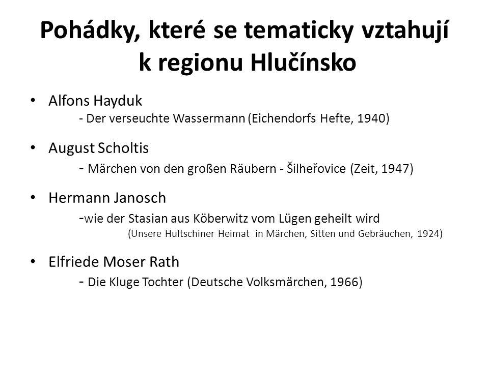 Pohádky, které se tematicky vztahují k regionu Hlučínsko
