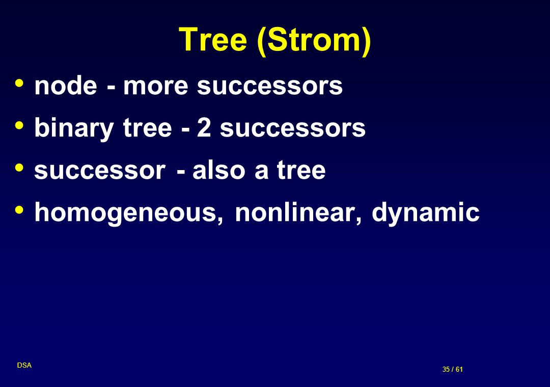 Tree (Strom) node - more successors binary tree - 2 successors