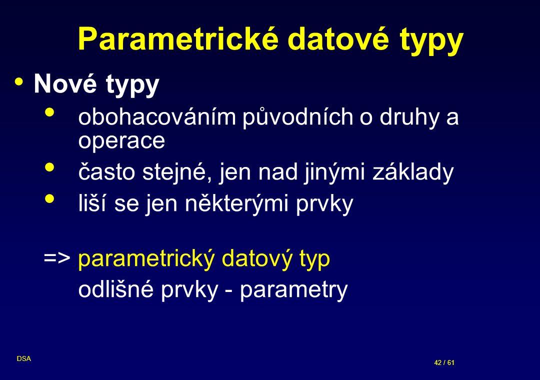Parametrické datové typy