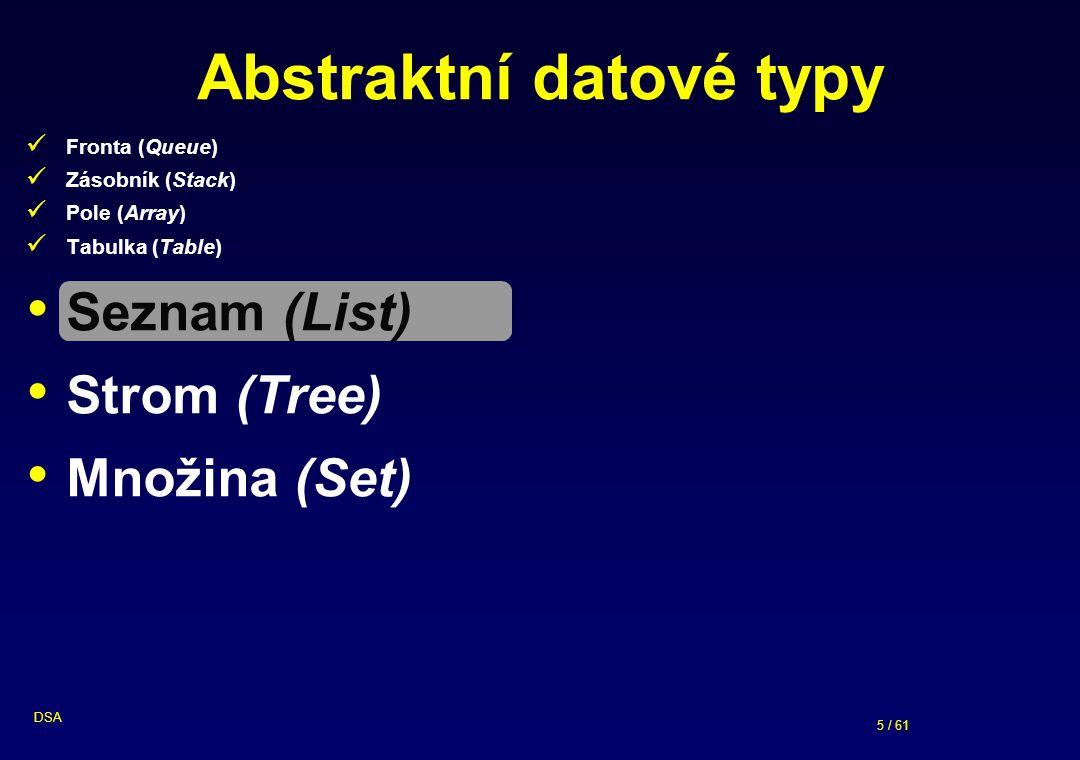Abstraktní datové typy