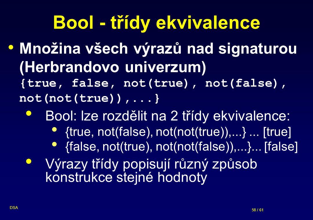 Bool - třídy ekvivalence