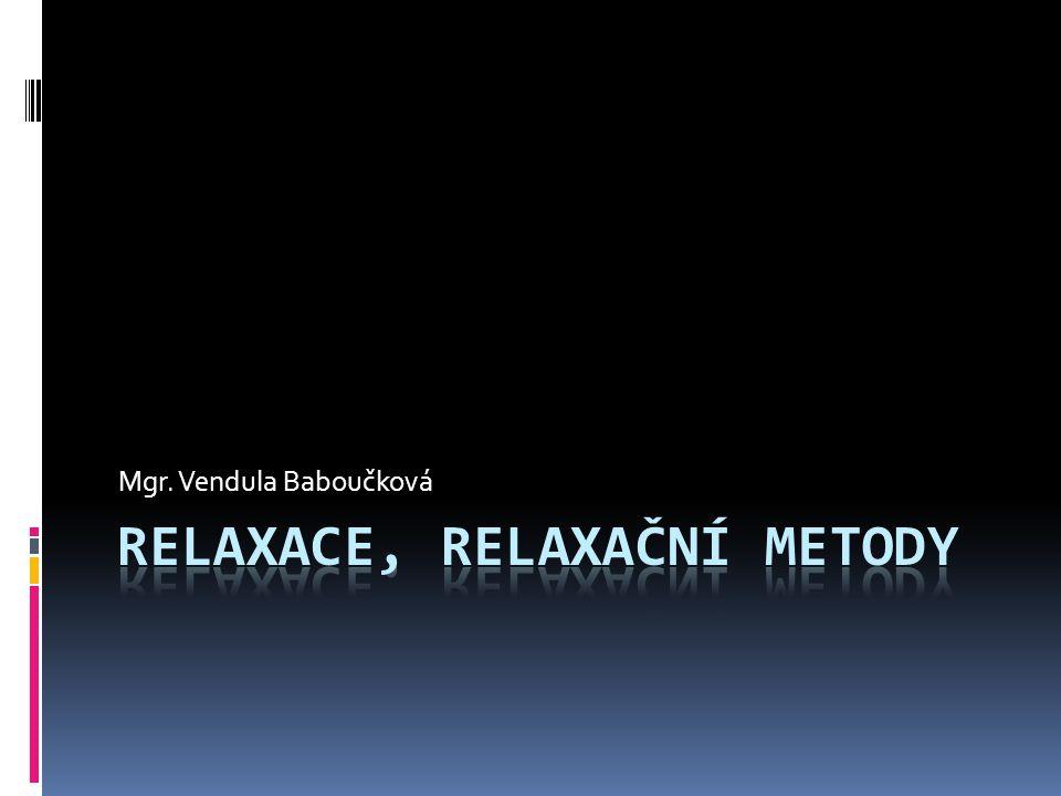 Relaxace, relaxační metody