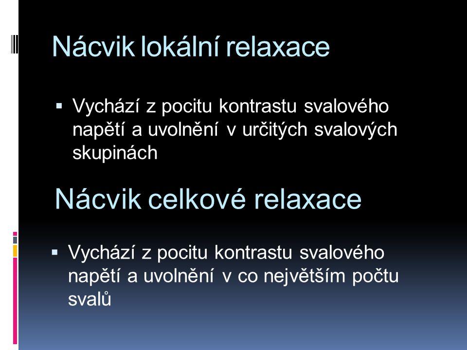 Nácvik lokální relaxace