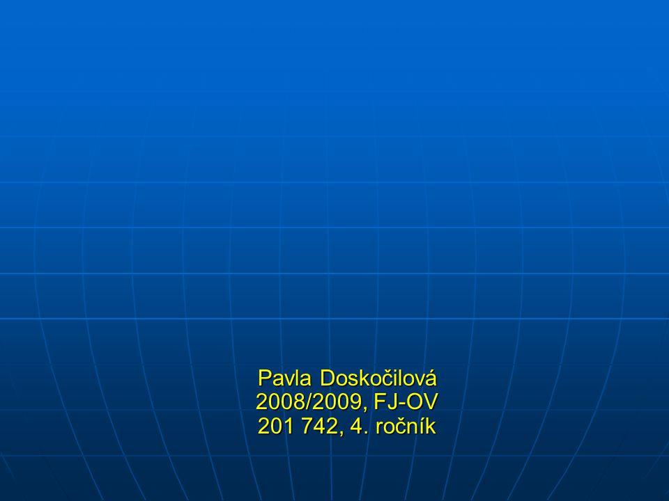 Pavla Doskočilová 2008/2009, FJ-OV 201 742, 4. ročník