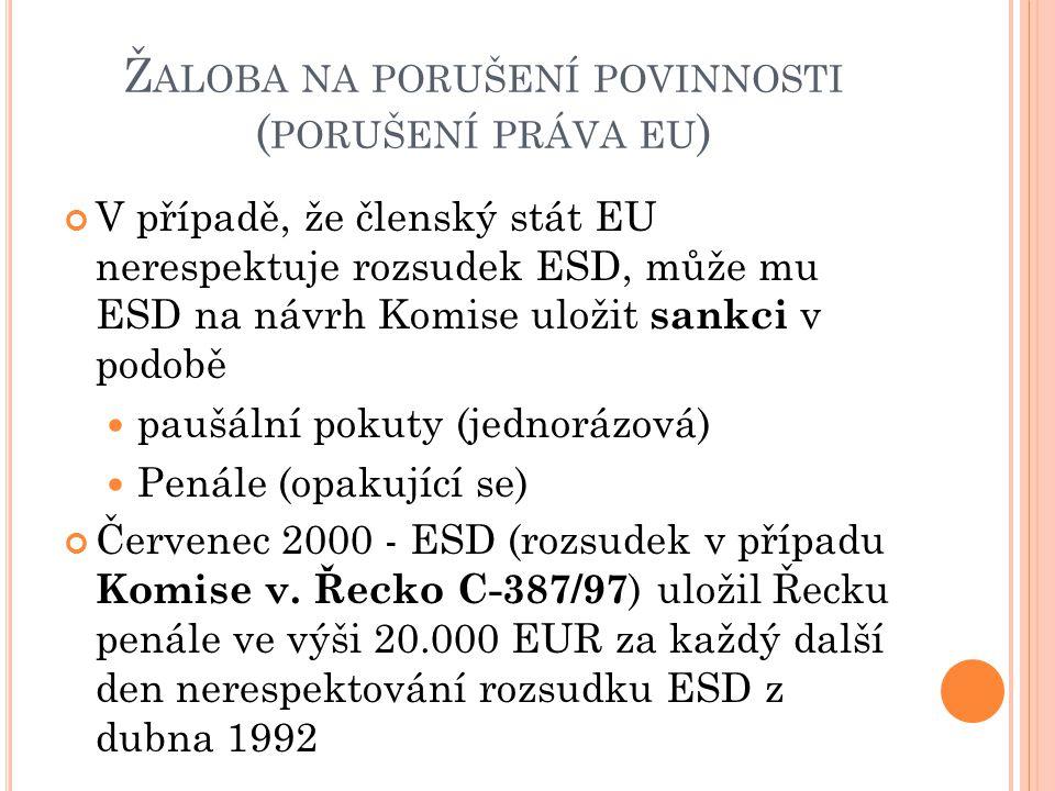 Žaloba na porušení povinnosti (porušení práva eu)