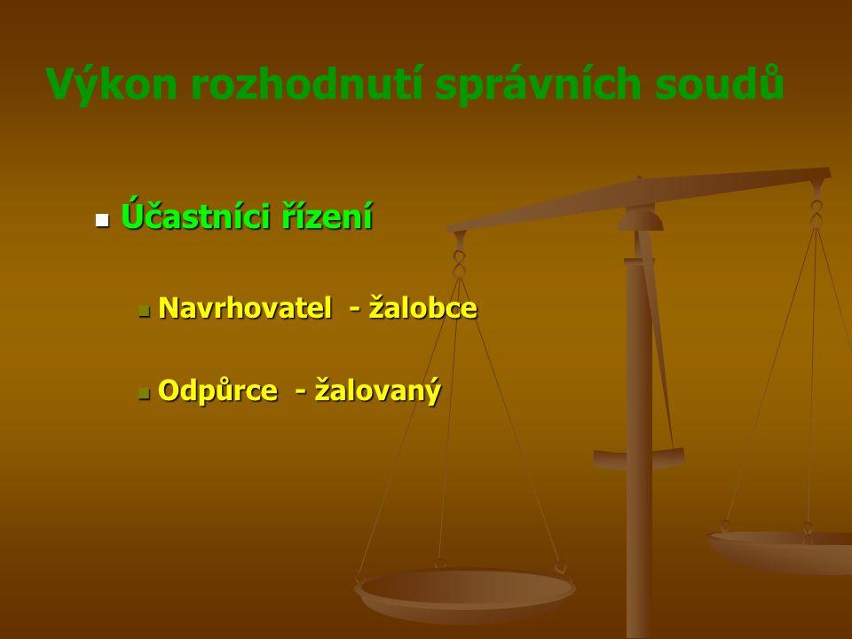 Účastníci řízení Navrhovatel - žalobce Odpůrce - žalovaný