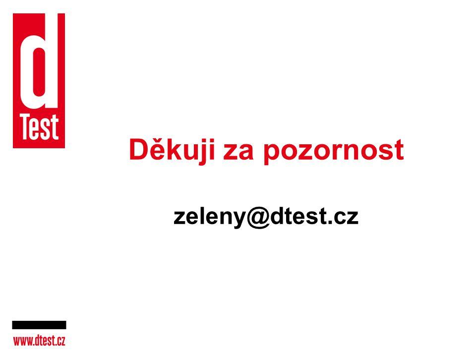 Děkuji za pozornost zeleny@dtest.cz
