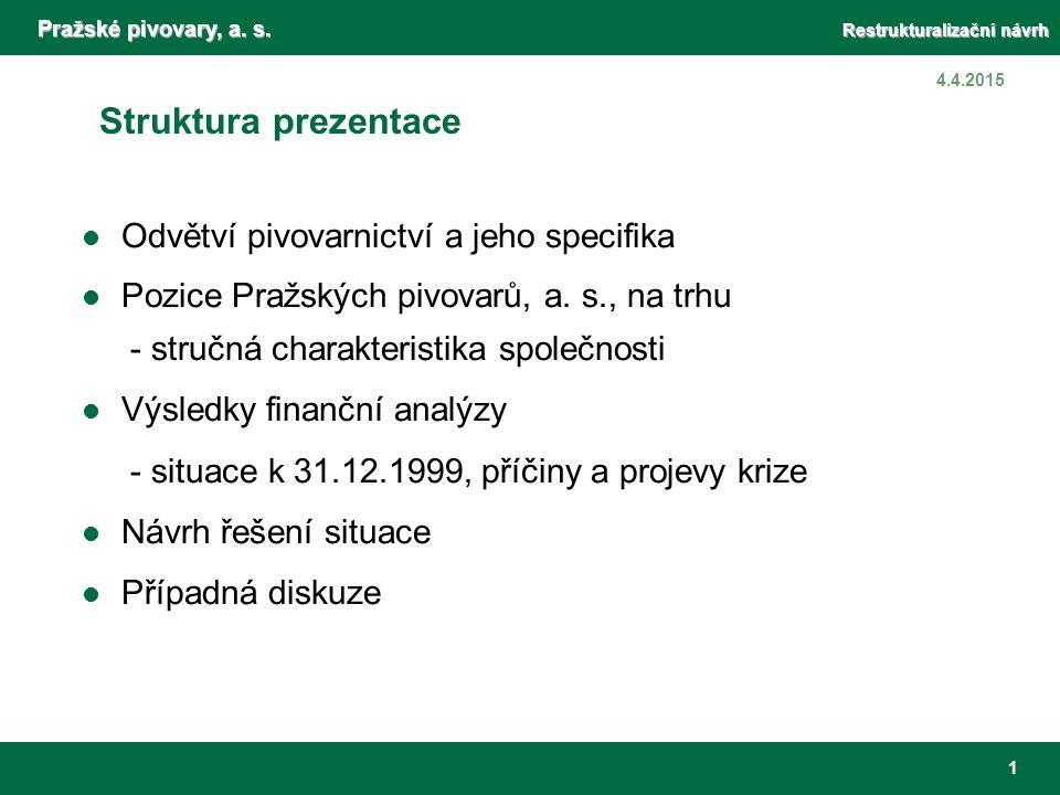 Specifika odvětví pivovarnictví (OKEČ - 15.96)