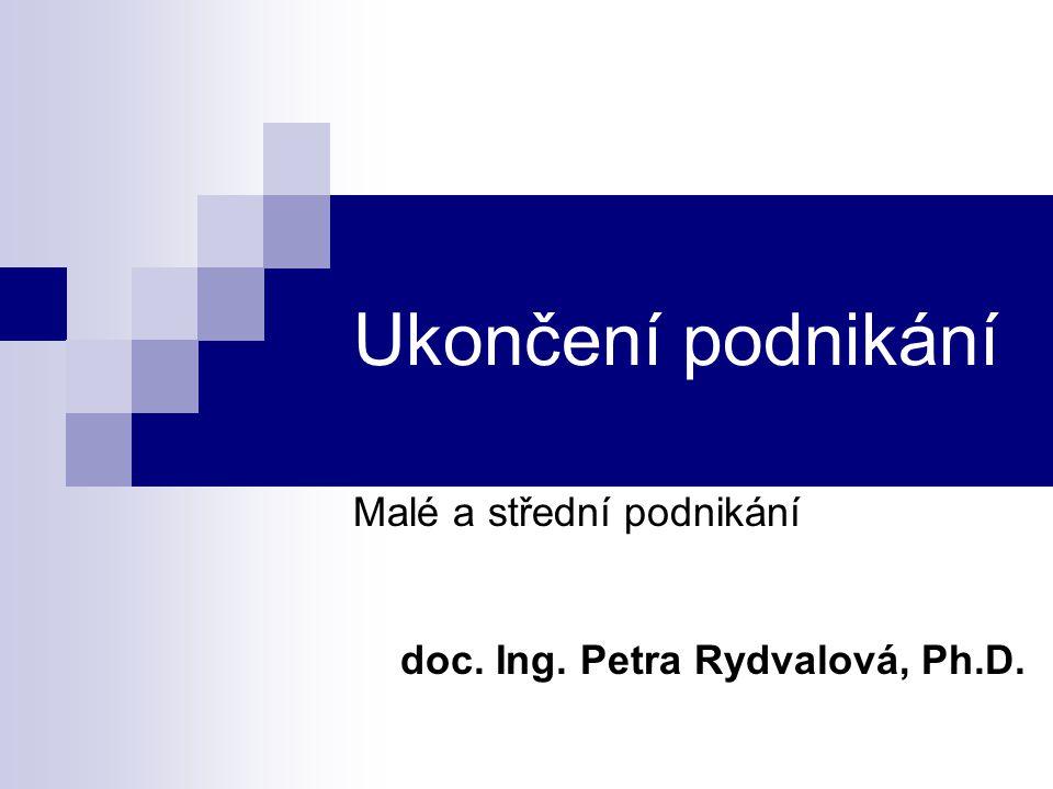 Malé a střední podnikání doc. Ing. Petra Rydvalová, Ph.D.
